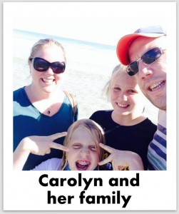 Carolyn Murphy and Family selfie