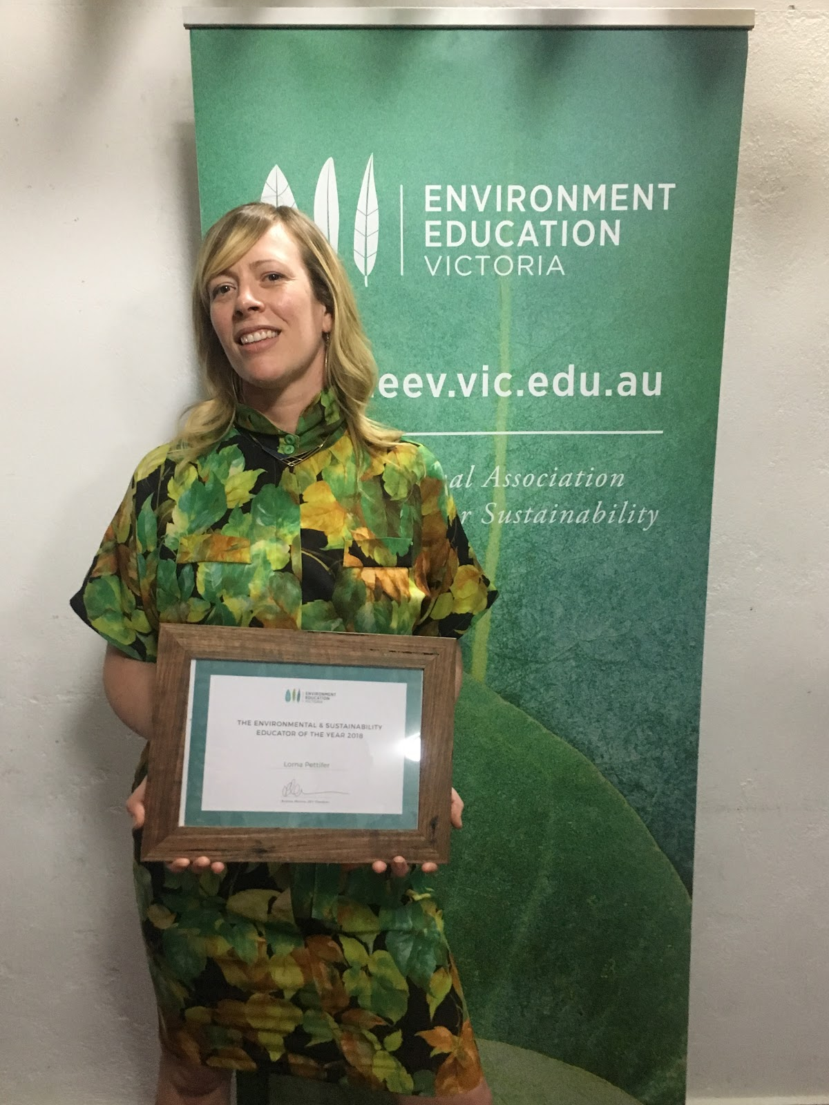 The Environmental & Sustainability Educator of the Year 2018, Lorna Pettifer